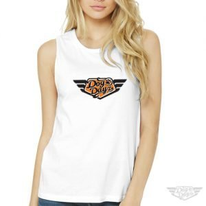 DogDayz Apparel - Muscle Tank Tee - DogDayz - Women - White Orange