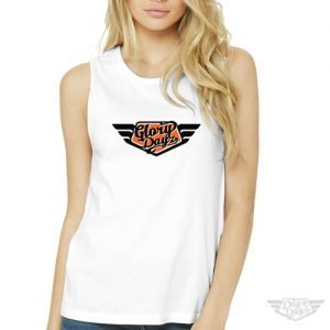 DogDayz Apparel - Muscle Tank - GloryDayz - Women - White Orange