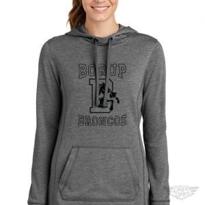 DogDayz Apparel - Sweatshirt - Borup Broncos - Women - Heather Grey