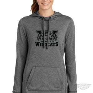 DogDayz Apparel - Sweatshirt - White Wildcats - Women - Heather Grey