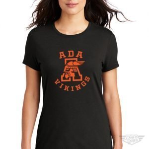 DogDayz Apparel - Tee - Ada Vikings - Women - Black