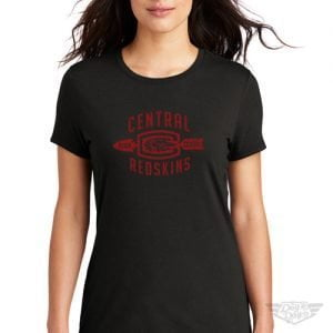 DogDayz Apparel - Tee - Central Redskins - Women - Black