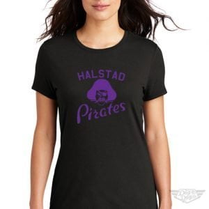 DogDayz Apparel - Tee - Halstad Pirates - Women - Black