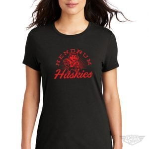 DogDayz Apparel - Tee - Hendrum Huskies - Women - Black