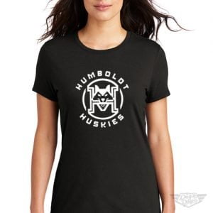 DogDayz Apparel - Tee - Humboldt Huskies - Women - Black