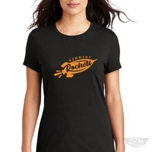 DogDayz Apparel - Tee - Kennedy Rockets - Women - Black