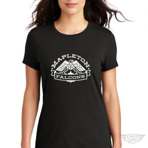 DogDayz Apparel - Tee - Mapleton Falcons - Women - Black