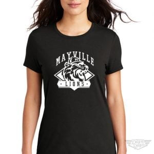 DogDayz Apparel - Tee - Mayville Lions - Women - Black