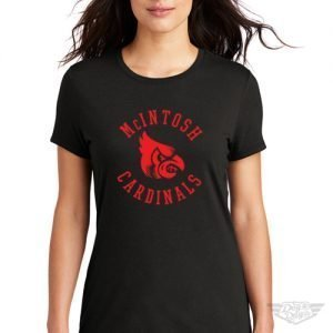 DogDayz Apparel - Tee - McIntosh Cardinals - Women - Black