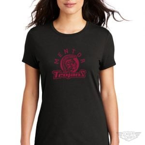 DogDayz Apparel - Tee - Mentor Trojans - Women - Black