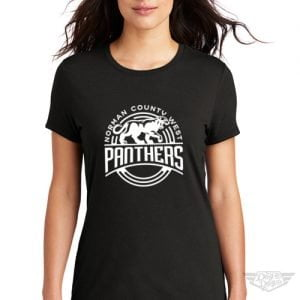 DogDayz Apparel - Tee - Norman County West Panthers - Women - Black
