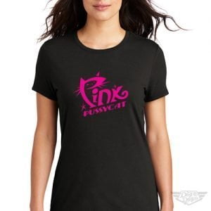DogDayz Apparel - Tee - Pink Pussycat - Women - Black