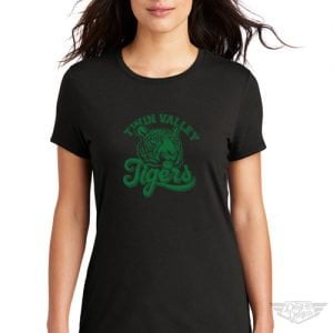 DogDayz Apparel - Tee - Twin Valley Tigers - Women - Black