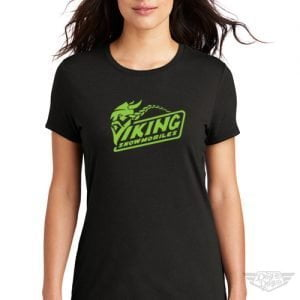 DogDayz Apparel - Tee -Viking Snowmobiles - Women - Black