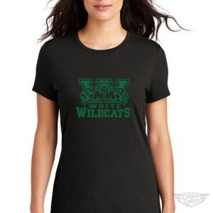 DogDayz Apparel - Tee - White Wildcats - Women - Black