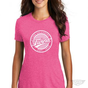 DogDayz Apparel - Tee - Clifford Twins - Women - Fuchsia Frost