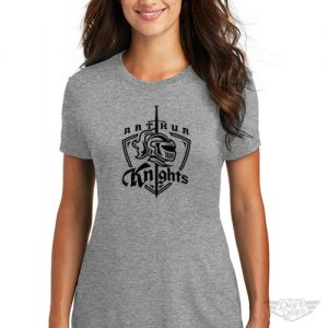 DogDayz Apparel - Tee - Arthur Knights - Women - Heather Grey