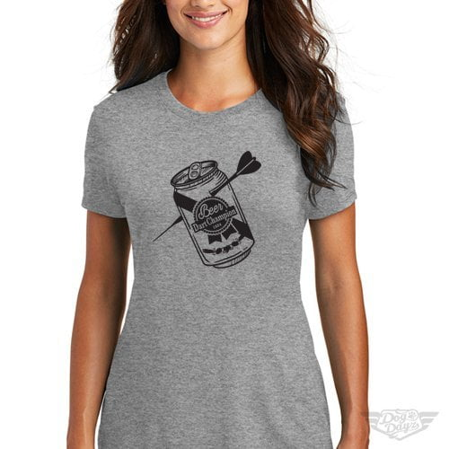 DogDayz Apparel - Tee -Beer Dart - Women - Heather Grey