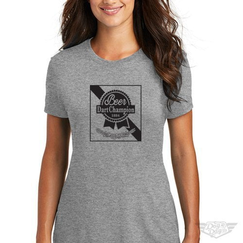 DogDayz Apparel - Tee -Pabst - Beer Dart - Women - Heather Grey