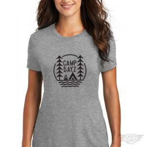 DogDayz Apparel - Tee -Camp Dayz - Women - Heather Grey