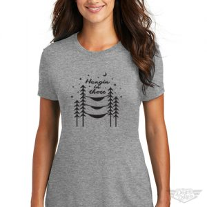 DogDayz Apparel - Tee -Hangin In There - Women - Heather Grey