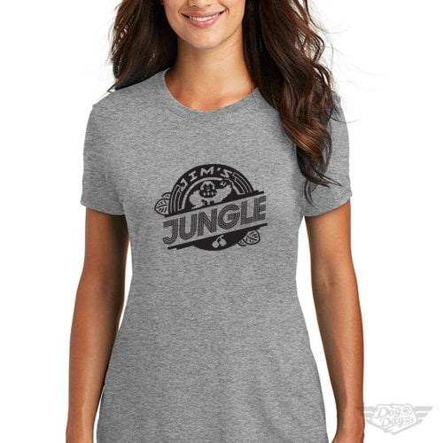 DogDayz Apparel - Tee -Jims Jungle - Women - Heather Grey