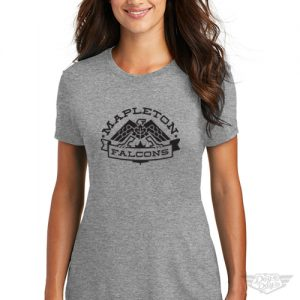 DogDayz Apparel - Tee - Mapleton Falcons - Women - Heather Grey