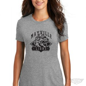 DogDayz Apparel - Tee - Mayville Lions - Women - Heather Grey