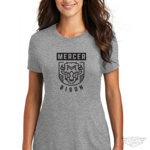DogDayz Apparel - Tee - Mercer Bison - Women - Heather Grey