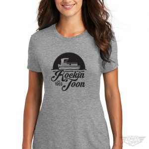 DogDayz Apparel - Tee -Rockin Toon - Women - Heather Grey