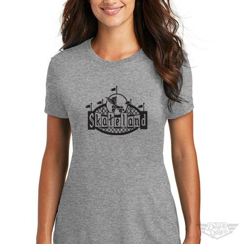 DogDayz Apparel - Tee -Skateland - Women - Heather Grey