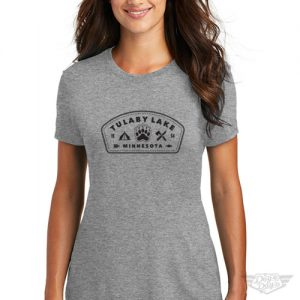 DogDayz Apparel - Tee Tulaby Patch - Women - Heather Grey