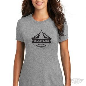 DogDayz Apparel - Tee -Tulaby Tree - Women - Heather Grey