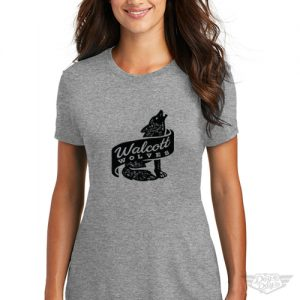 DogDayz Apparel - Tee - Walcott Wolves - Women - Heather Grey