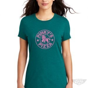 DogDayz Apparel - Tee - Pinkys Pizza - Women - Heather Teal