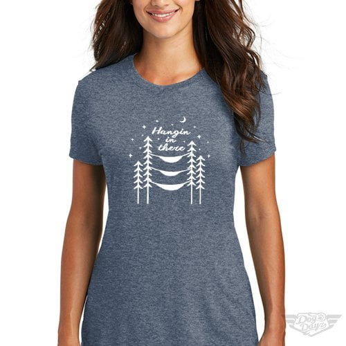 DogDayz Apparel - Tee -Hangin In There - Women - Navy Frost