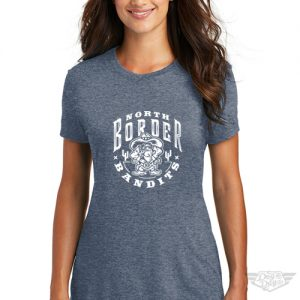 DogDayz Apparel - Tee - North Border Bandits - Women - Navy Frost
