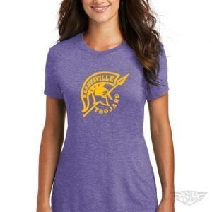 DogDayz Apparel - Tee - Barnesville Trojans - Women - Purple Frost