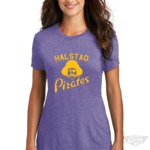 DogDayz Apparel - Tee - Halstad Pirates - Women - Purple Frost