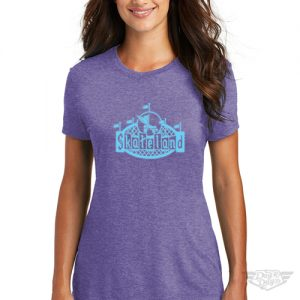 DogDayz Apparel - Tee -Skateland - Women - Purple Frost