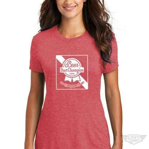 DogDayz Apparel - Tee -Pabst - Beer Dart - Women - Red Frost