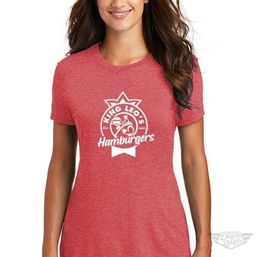 DogDayz Apparel - Tee -King Leos - Women - Red Frost