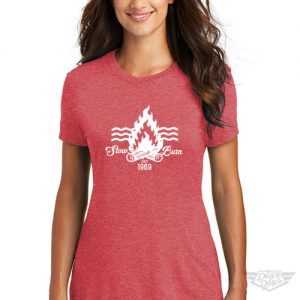 DogDayz Apparel - Tee -Slow Burn - Women - Red Frost