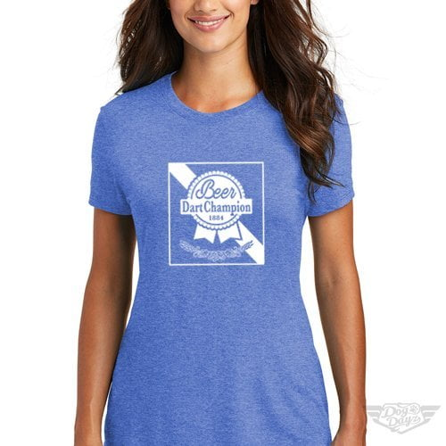 DogDayz Apparel - Tee -Pabst - Beer Dart - Women - Royal Frost