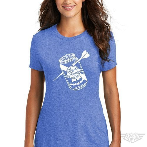 DogDayz Apparel - Tee -Beer Dart - Women - Royal Frost
