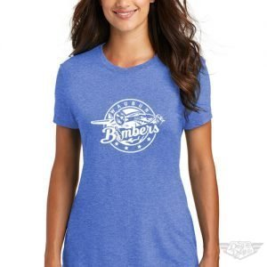 DogDayz Apparel - Tee - Waubun Bombers - Women - Royal Frost