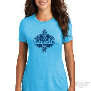 DogDayz Apparel - Tee -Dales Standard - Women - Turquoise Frost