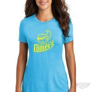 DogDayz Apparel - Tee - Erskine Comets - Women- Turquoise Frost