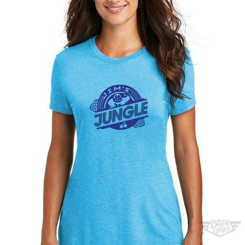 DogDayz Apparel - Tee -Jims Jungle - Women - Turquoise Frost