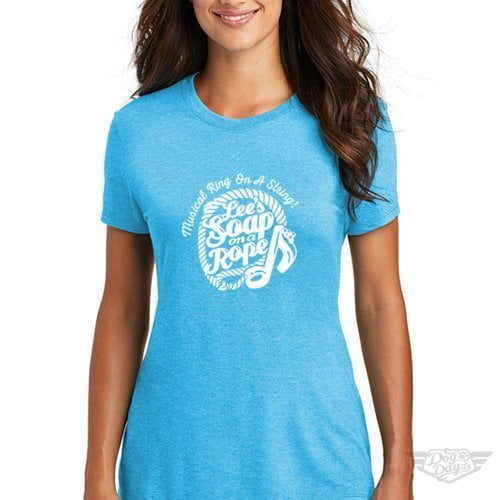DogDayz Apparel - Tee -Lees Soap on a Rope - Women - Turquoise Frost